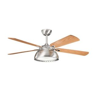 Kichler Lighting 300142BSS Vance 54 4 Blade Indoor Ceiling Fan in Brushed Stainless Steel   blades Included