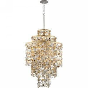 Corbett Lighting COR 215 711 Ambrosia Gold/Silver Leaf  Pendants Lighting