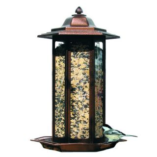 Birdscapes Tall Tulip Garden Lantern Decorative Bird Feeder