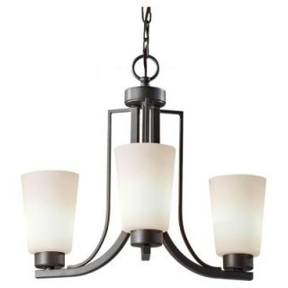 Feiss Weston 3 Light Colonial Iron Single Tier Chandelier F2763/3CI LA