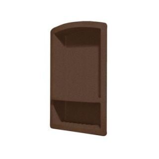 Swanstone Recessed Wall Mount Solid Surface Soap Dish and Accessory Shelf in Acorn DISCONTINUED RS 2215 123