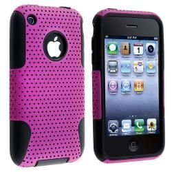 Black Skin/ Purple Mesh Hybrid Case for Apple iPhone 3G/ 3GS