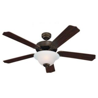 Sea Gull Lighting Quality Max Plus 52 in. Russet Bronze Indoor Ceiling Fan 15030BLE 829
