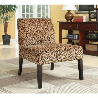 Plush Oversized Leopard Print Accent Chair   16647767