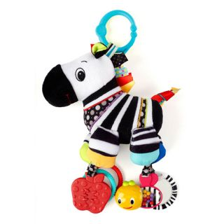 Bright Starts Sensory Plush Pals Zebra Take Along Toy