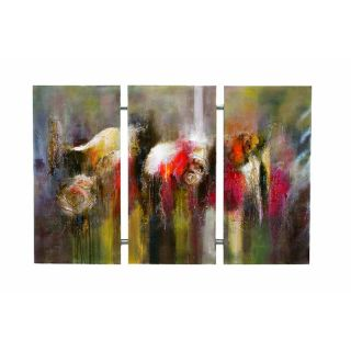 Bassett Mirror 7200 882EC Rainy Abstract Art Canvas