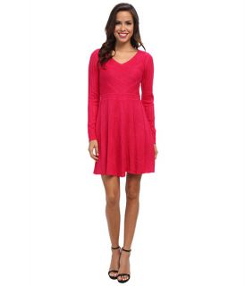 Jessica Simpson V Neck Sweater Dress Pink Ginger, Pink, Women