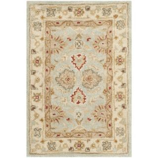 Safavieh Handmade Antiquity Blue grey/ Beige Wool Rug (23 x 4)