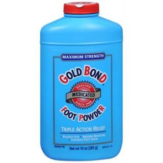 Gold Bond Foot Powder Medicated Maximum Strength 10 oz (Pack of 6)