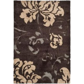 Safavieh Florida Shag Dark Brown/Smoke 5 ft. 3 in. x 7 ft. 6 in. Area Rug SG458 2879 5