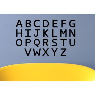 Alphabet letters Wall Art Sticker Decal   18547890