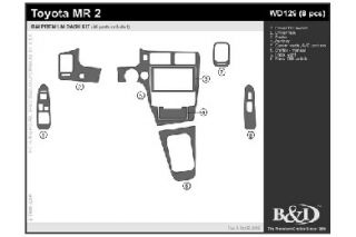 1991 1995 Toyota MR2 Wood Dash Kits   B&I WD129 DCF   B&I Dash Kits