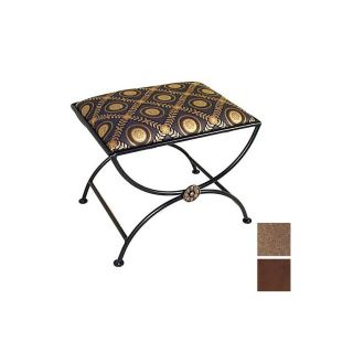 Grace Collection Arcadian Arch Burnished Copper Indoor Accent Bench