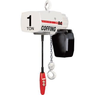 Coffing Industrial-Duty Electric Chain Hoist — 1/4 Ton Capacity, 15ft. Lift, Model# 08211W