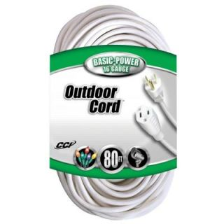 Coleman Cable 80 ft. 16/3 SJTW Outdoor Vinyl Extension Cord 023538805