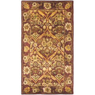 Safavieh Antiquity Garden Panel Wine/Gold Area Rug