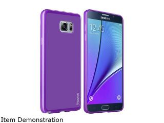 Insten Dark Purple Plain TPU Pudding [ Ultra Thin ] Rubber Scratch Resistant Case For Samsung Galaxy Note 5 2138509
