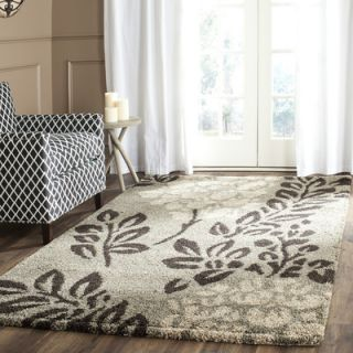 Safavieh Florida Shag Smoke/Dark Brown Area Rug