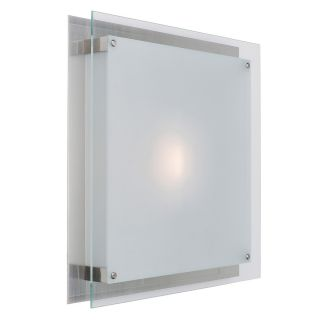 Access Lighting Vision 11.8 in W Brushed Steel Ceiling Flush Mount Light