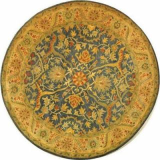 Safavieh Antiquity Blue 3 ft. 6 in. x 3 ft. 6 in. Round Area Rug AT14E 4R