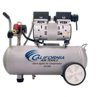 California Air Tools 5.5 Gal. 1.0 HP Ultra Quiet and Oil Free Air Compressor 5510SE