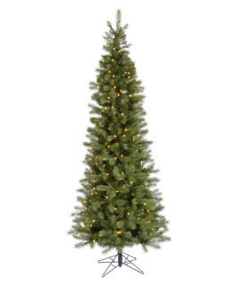 Albany Spruce Slim Pre lit LED Christmas Tree