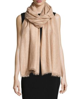 Brunello Cucinelli Cashmere Blend Shimmer Scarf, Cameo