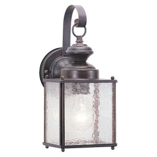 Sea Gull 1 Light Outdoor Wall Lantern   Textured Rust Patina