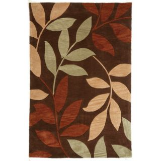 Fusion Ivy League Dark Brown Rug by Jaipur Rugs