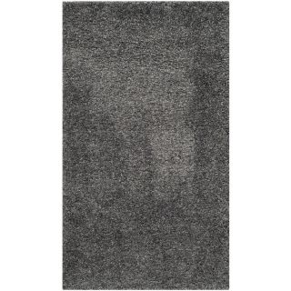 Safavieh California Shag Dark Gray Rectangular Indoor Machine Made Area Rug (Common 6 x 9; Actual W x L x 0 ft Dia)