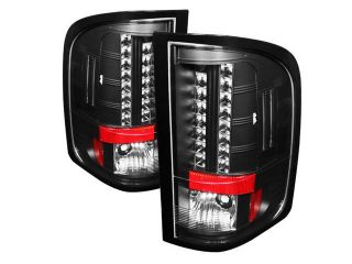 Spyder Auto Chevy Silverado 1500/2500/3500 2010 ( With Two Reverse Socket 921 Bulb ) LED Tail Lights   Black ALT YD CS2010 LED BK