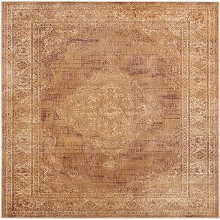 Safavieh Vintage Taupe Viscose Rug (6 Square)   Shopping