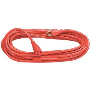 FELLOWES 25 ft. Indoor, Outdoor 125V Extension Cord, 13 Max. Amps, Orange   48JU93|99597