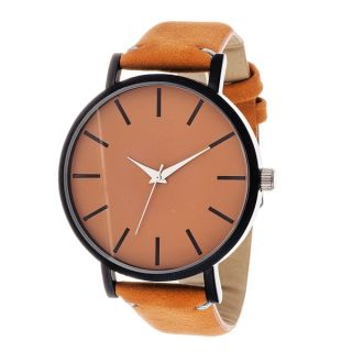 Xtreme Mens Black Case and Orange Dial / Orange Leather Strap Watch