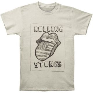 Rolling Stones Mens Sketch US Tongue T shirt Off white