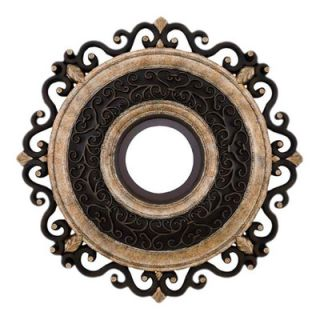 Minka Aire Napoli 22 Ceiling Medallion in Sterling Walnut