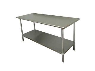 ADVANCE TABCO GLG 366 Work Table, 72 x 36 x35 1/2 In., SS Top