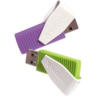 Verbatim Corporation Verbatim 16GB Swivel USB Flash Drive   2pk