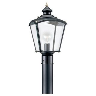 Sea Gull 1 Light Outdoor Post Lantern   Black