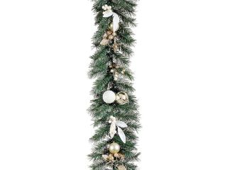 "6' x 10"" Tiffany Gold Pre Decorated Artificial Christmas Garland   Unlit"