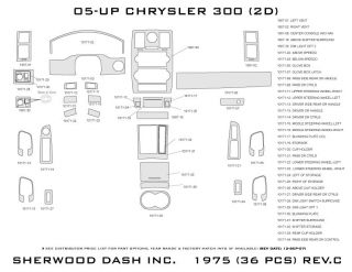 2005, 2006, 2007 Chrysler 300 Wood Dash Kits   Sherwood Innovations 1975 CF   Sherwood Innovations Dash Kits