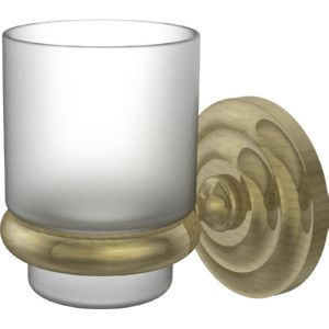 Allied Brass PQN 66 ABR Prestige Que New Antique Brass  Toothbrush & Tumbler Holders Bathroom Accessories