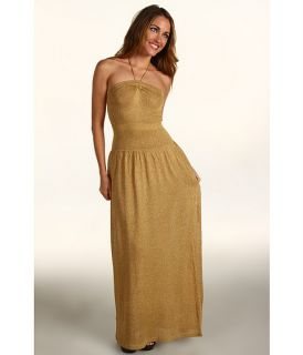 BCBGMAXAZRIA Albaneth Strapless Evening Gown Gold Combo