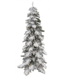 Vickerman Flocked Vail Pine Pre lit Christmas Tree   Christmas Trees