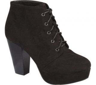 Womens Wild Diva Camille 86 Ankle Boot   Black Faux Suede    & Exchanges