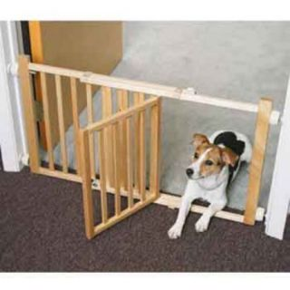 Four Paws Walk over Wood Pet Gate with Door