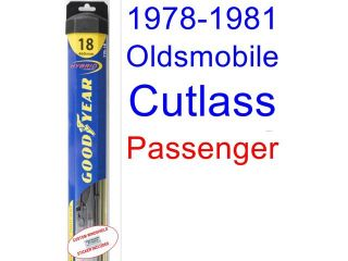 1978 1981 Oldsmobile Cutlass Replacement Wiper Blade Set/Kit (Set of 2 Blades) (Goodyear Wiper Blades Hybrid) (1979,1980)
