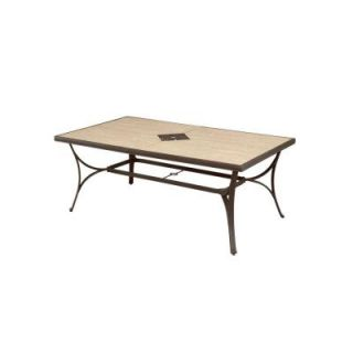 Hampton Bay Pembrey Rectangular Patio Dining Table HD14215
