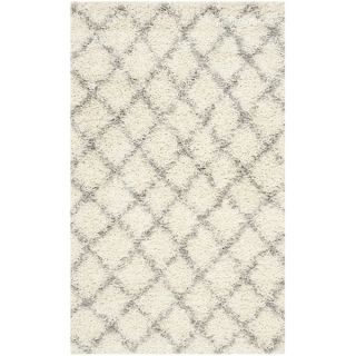 Safavieh Dallas Shag Ivory/ Grey Rug (3 x 5)   Shopping