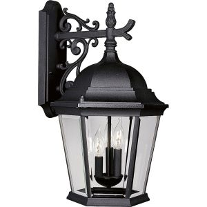 Progress Lighting P5690 31 Welbourne Textured Black  Outdoor Sconce Lighting